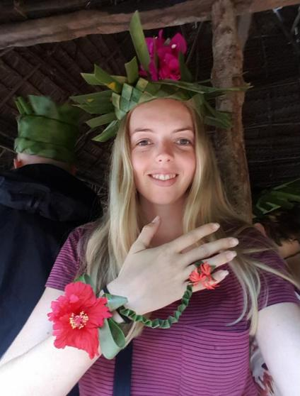 My flower crown and bracelet