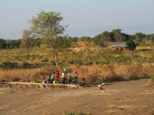 We saw lots of water pumps in Malawi along the main road