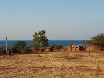 Lake Malawi in the background! Can't see to the other side.