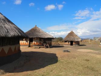 Amongst the huts