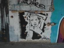 Graffiti and bulletholes